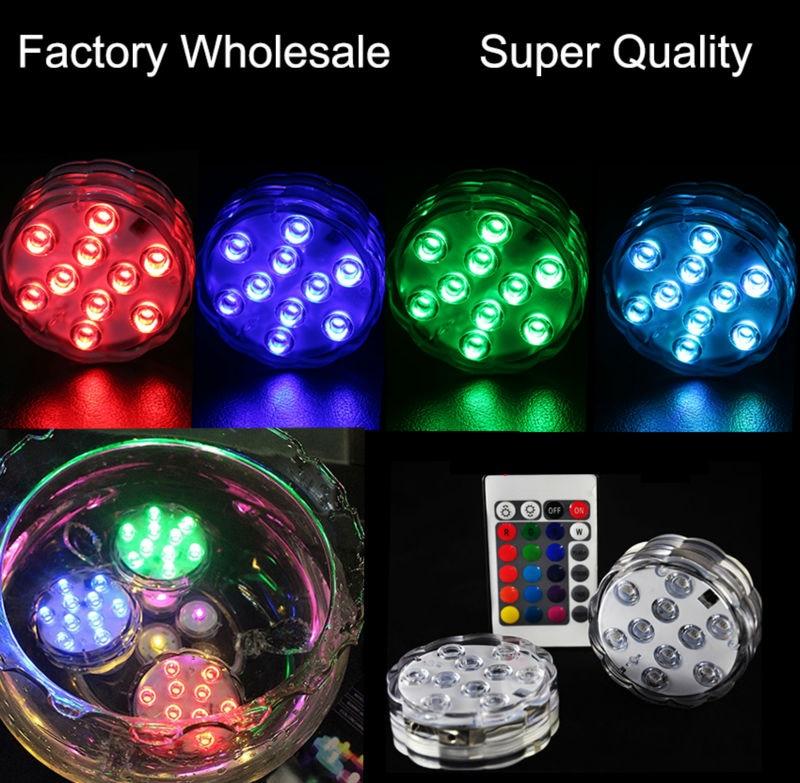2017 ny produkt 1st LED-nedsänkbar ljus blommig te ljus ljus - Festlig belysning - Foto 6