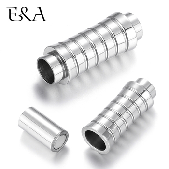 Stainless Steel Magnetic Clasp Tube Hole 6mm Leather Cord Clasps Magnet Buckle DIY Jewelry Making Supplies Bracelet Components stainless steel magnetic clasps hole 12 6mm for leather cord bracelet magnet clasp buckle diy jewelry making supplies accessory
