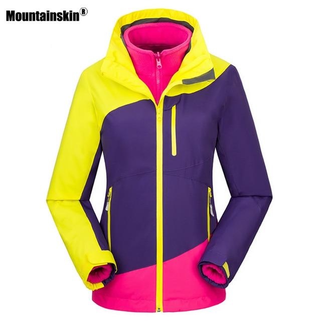 1f1029a30fcd US $46.39 22% OFF Aliexpress.com : Buy Mountainskin Women's Winter  Softshell Fleece Jackets Outdoor Sportswear Hiking Trekking Camping Skiing  Female ...