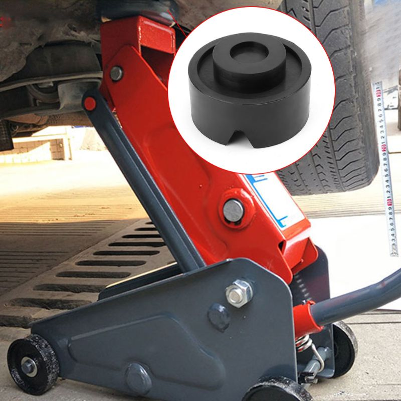 1pcs New Black V-groove Car Jack Rubber Pad Anti-slip Rail Protector Support Block Heavy Duty For Car Lift