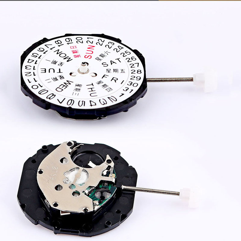 Watch Accessories Double Calendar Week Calendar Quartz Movement SL28 Watch Clock Accessories 3 Needle Quartz Movement