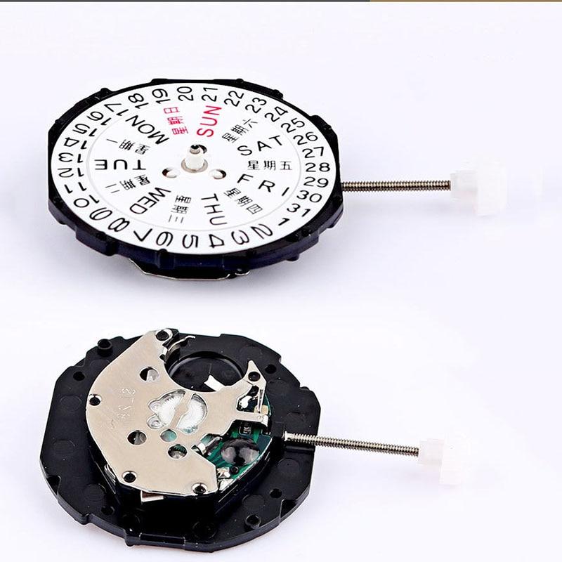 Watch Accessories Double Calendar Week Calendar Quartz Movement SL28 Watch Clock Accessories 3 Needle Quartz Movement | Repair Tools & Kits