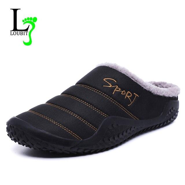 2020รองเท้าผู้ชายฤดูหนาวรองเท้าแตะผ้าใบกันน้ำรองเท้าFur Plusขนาด39 48นอกรองเท้าแตะยางnon Slip