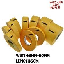 Желтая маска лента 50 м-краска специальная модель специальная маскирующая лента 8-50 мм модель хобби краски инструменты аксессуары