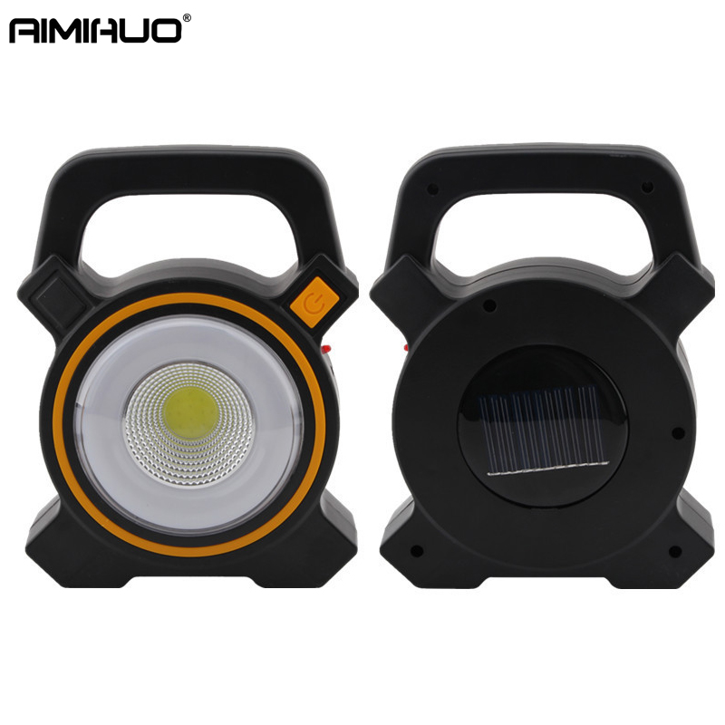 AIMIHUO 2017 new solar COB portable work light solar camping tents lights outdoor work lights emergency household lights