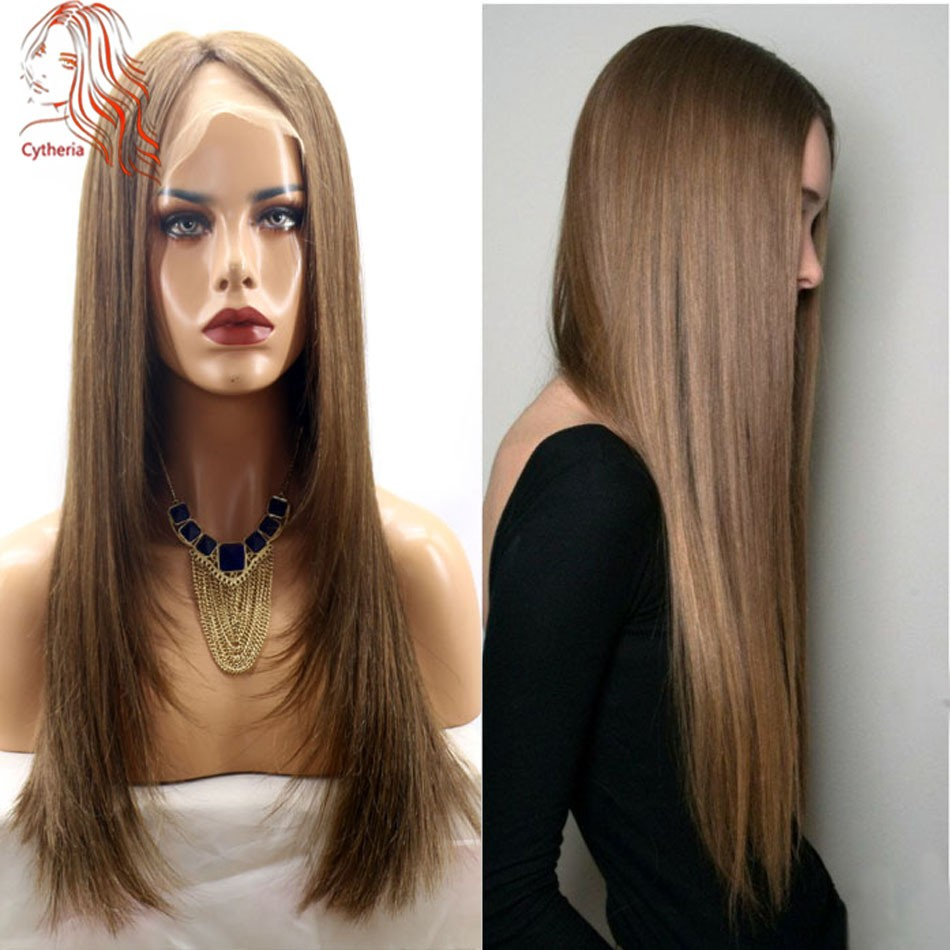 Glueless-Full-Lace-Wigs-Light-Brown-8-European-Virgin-Silky-Straight-Hair-Long-Wig-Swiss-Lace