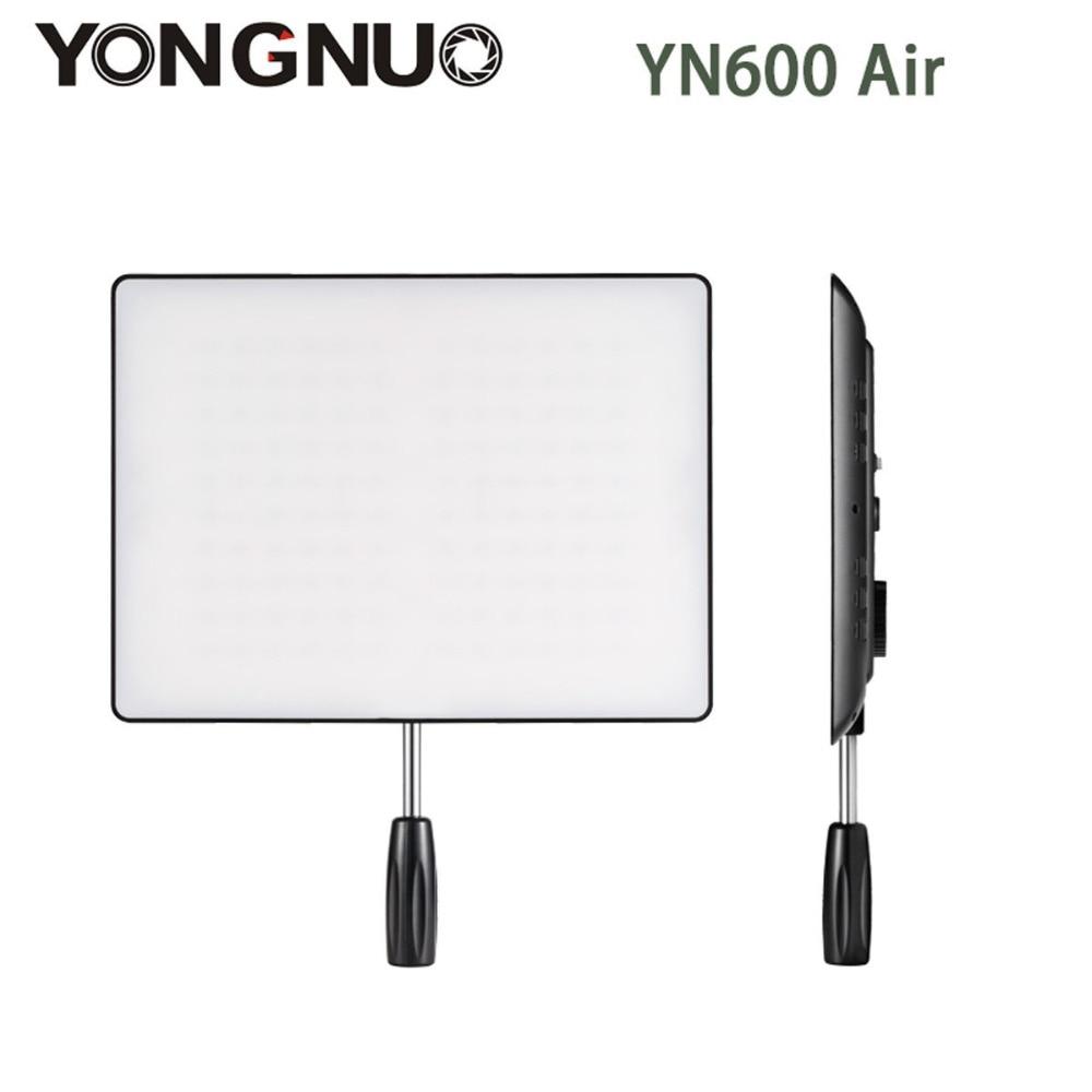цена на YONGNUO YN-600 Air YN600 Air Ultra Thin LED Camera Video Light Panel 3200K-5500K Photography Studio Lighting