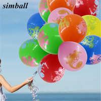 100 pcs/lot 12 pouces dinosaure Ballon épais 2.8g imprimé Latex Ballon enfants anniversaire Air Ball/fête fournitures/décoration de mariage