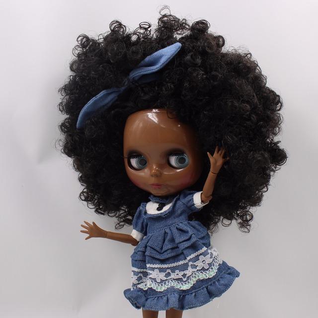 TBL Neo Blythe Doll Black Skin Black Hair Jointed Body