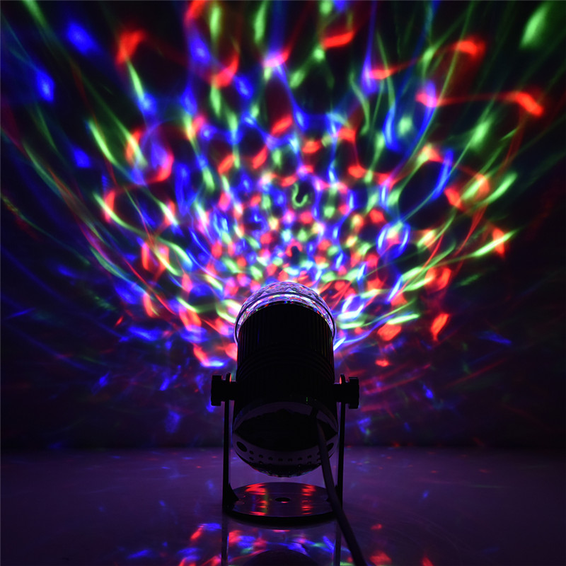 LAIDEYI RGB LED Music Stage Lights 110-240V DMX Disco Club DJ Light Show Bulb Projector Crystal Magic Ball DJ Effect Lighting mini rgb led crystal magic ball stage effect lighting lamp bulb party disco club dj light show lumiere