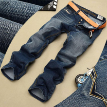 Fashion Biker Jeans Button Fly Pants Brand Designer Mens Jeans High Quality Blue Black Color Straight Ripped Jeans For Men