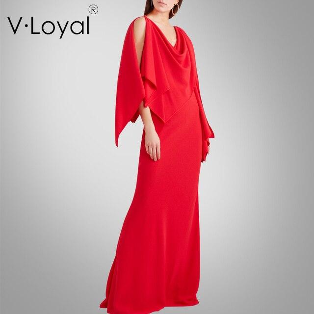 Летние новые моды, само выращивания, плащ, красное платье, европейский и американский длинное платье.