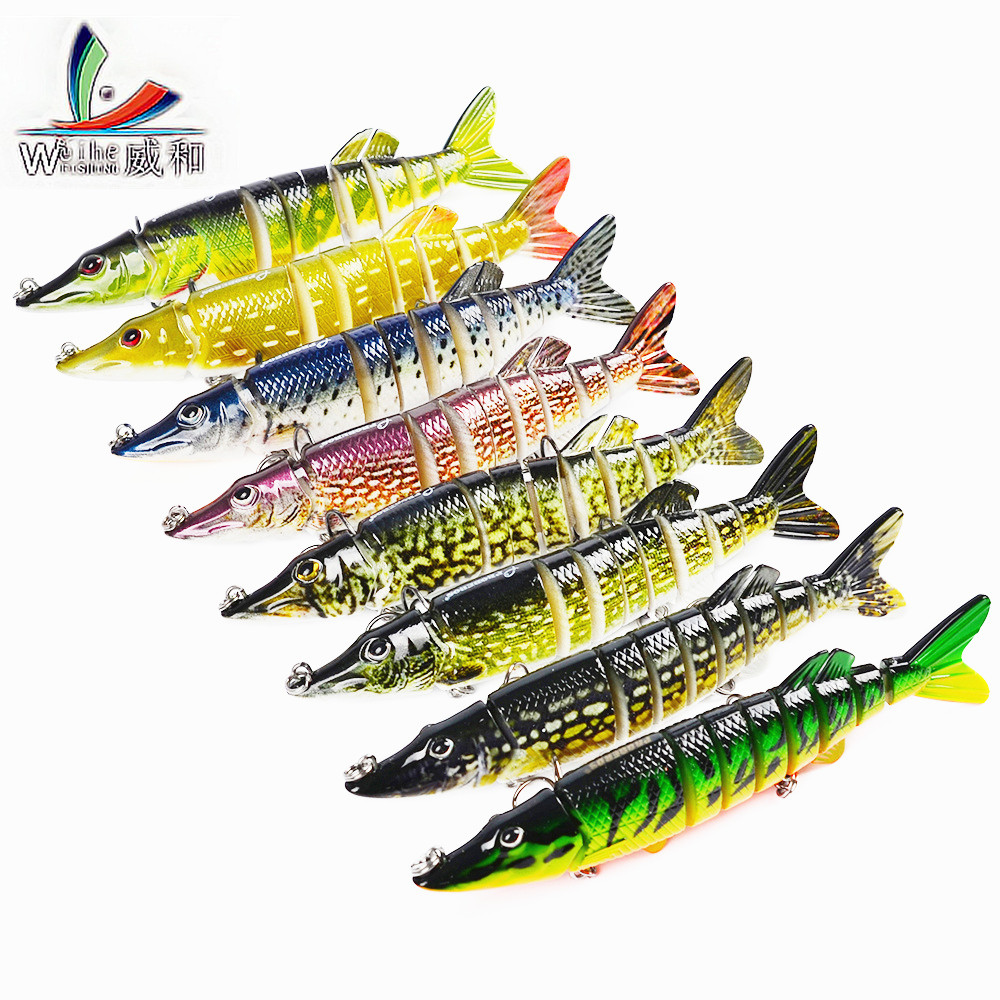 8 Pcs Artificial 9 Sections Multi Articulated Fishing Lure Spinner Swim Japan Diving Bass Wobblers Bait Carp Fishing Accessories wldslure 1pc 54g minnow sea fishing crankbait bass hard bait tuna lures wobbler trolling lure treble hook