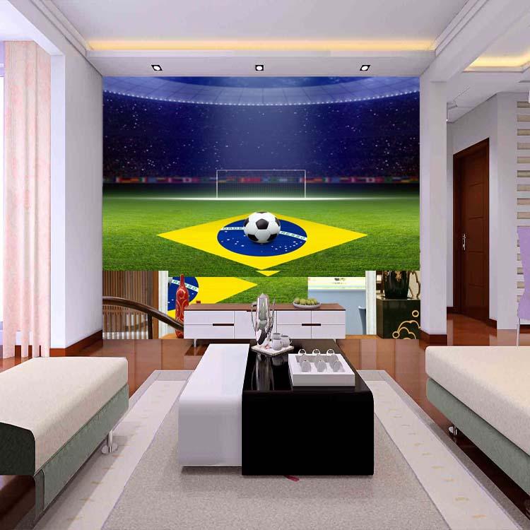 Custom 3d Mural World Cup Soccer Field Bar Ktv Wall Painting Living