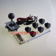 Arcade Machine DIY Kits Parts SANWA OBSF-30 Buttons + Sanwa JLF-TP-8YT Direction + USB Encoder Board To Raspberry PI Retropie 3B