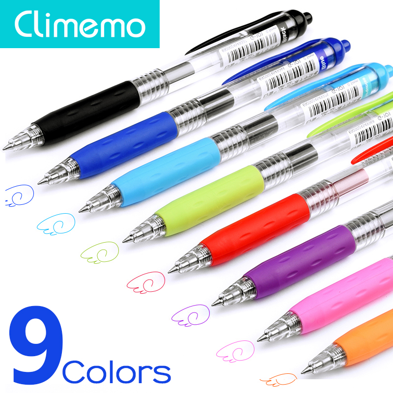 0.5mm Multicolor Classic Press Style Cute Stationery Ballpoint Pen For Writting High Capacity Pen Office & School Supplies In Many Styles