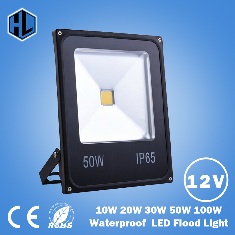 DC12V Waterproof LED Flood Light 50W Warm white/Cold white/Red/Blue/Green/Yellow Outdoor Light LED Floodlight Spotlight ultrathin led flood light 100w led floodlight ip65 waterproof ac85v 265v warm cold white led spotlight outdoor lighting
