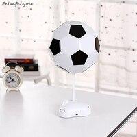 Feimefeiyou DIY USB Multi Color Football Lamp Handmade Night Light Desk Lamp Colorful Bedside Lamp