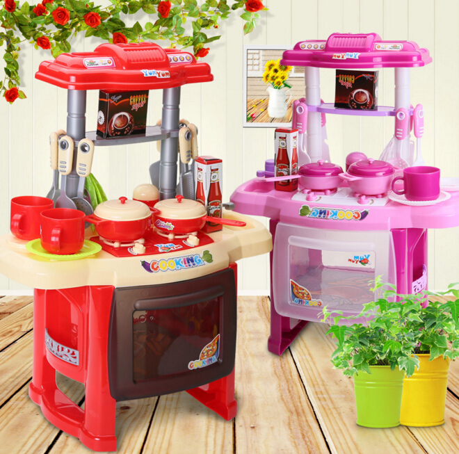 Kids Toys Mother Garden Beauty Kitchen Cooking Toy Play Set For Children  And Parents Games Play  Kitchen For Kids