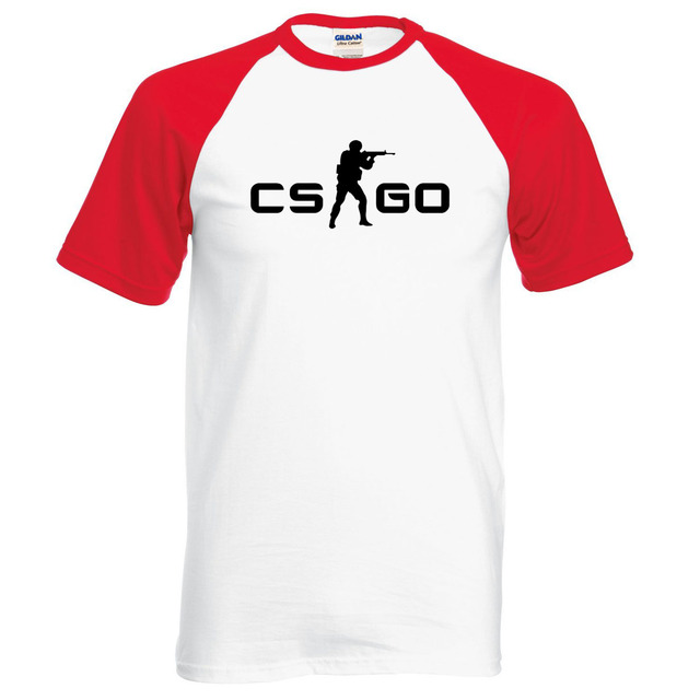 hot sale for gamers CS GO raglan t shirt men 2017 summer new 100% cotton high quality top tees for fans brand-clothing hipster