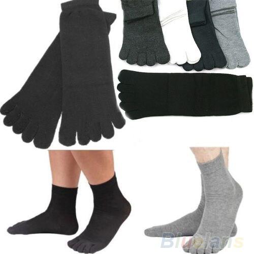 5 Pairs Mens Five Seperate Finger Toe Comfortable Cotton Winter Warm Socks 9EV8