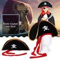 Новая пиратская шапка, шапка tain, шапка с черепом и кроссбовидным дизайном, костюм для Маскарадного платья, вечевечерние НКИ, Хэллоуина, поли...