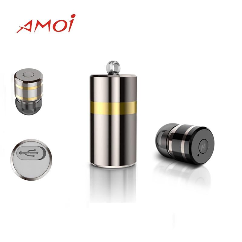 2018 Fashion Amoi M2 Bluetooth font b Wireless b font headset with USB font b charger