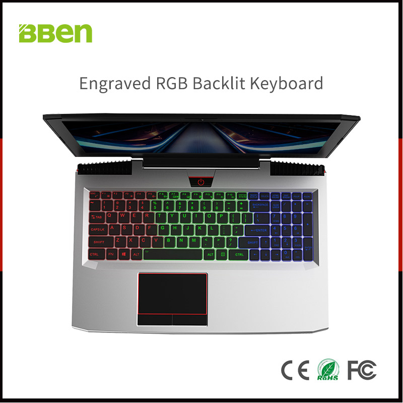 BBEN Laptop Nvidia GTX1060 GDDR5 Intel i7 Kabylake 8GB RAM M 2 SSD RGB Backlit Keyboard