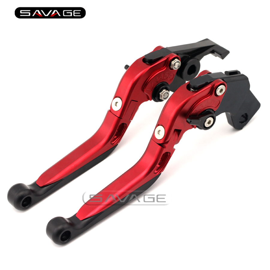 For SUZUKI GSF600 GSF400 GSX600 RV600 SV650 DL650 KATANA Red Motorcycle Adjustable Folding Extendable Brake Clutch Lever adjustable billet extendable folding brake clutch lever for suzuki dl 650 v storm 04 10 05 06 07 08 sv 650 n s 99 09 00 01 02