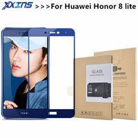 Xxins Huawei Honor 8 Lite Screen Protector Glass Tempered Ultra Clear Thin Full Cover Screen Protector