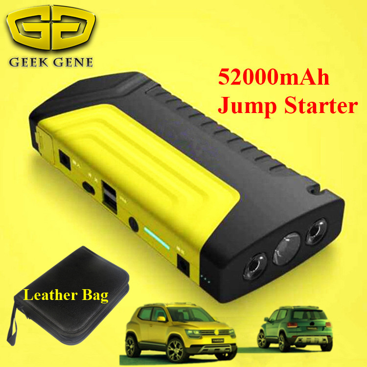 Portable 52000mAh Auto Car Jump Starter Battery Booster Charger Emergency 2USB font b Mobile b font