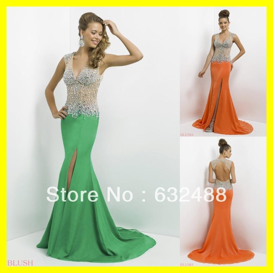 Short Prom Dresses Orange or Greeen