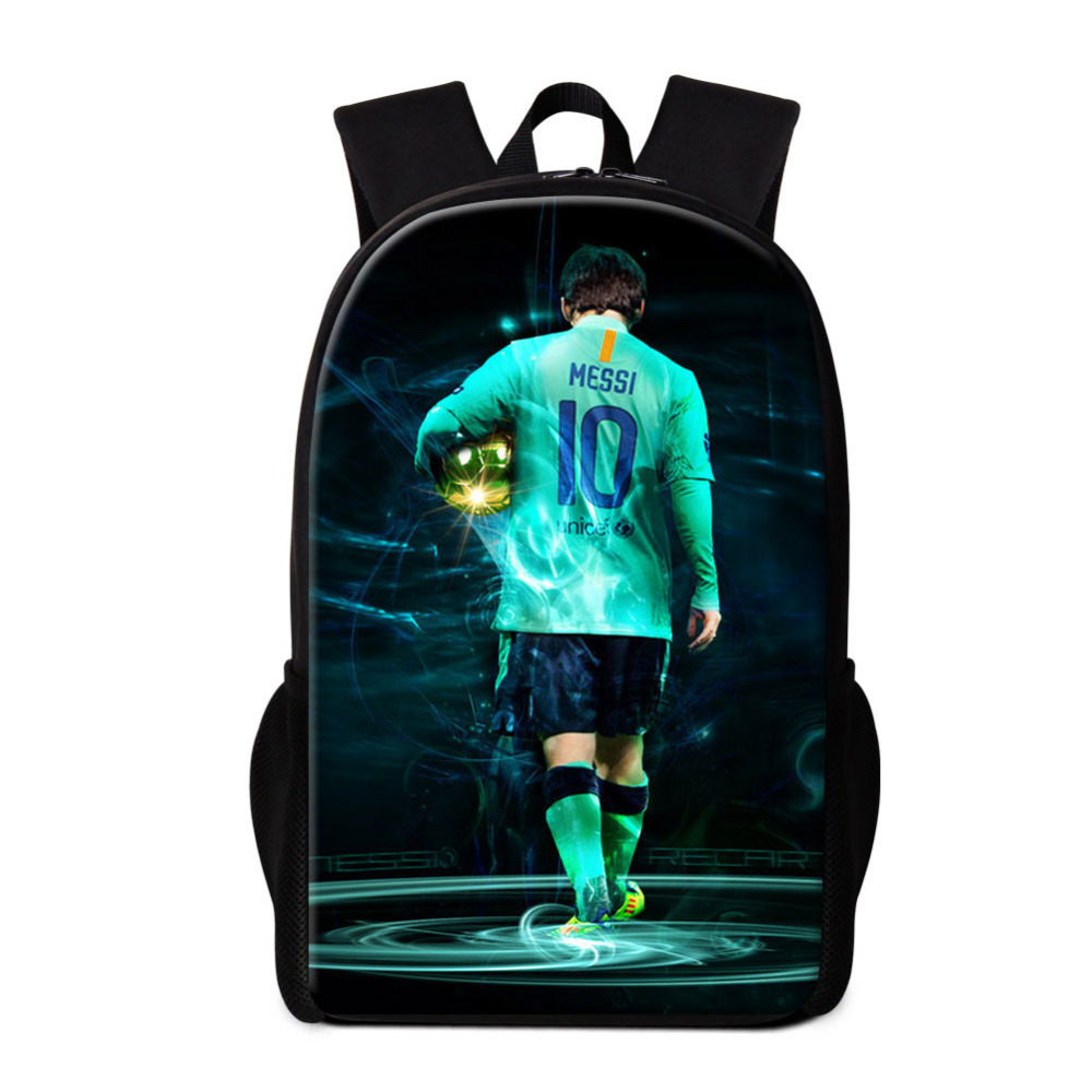 Newest Bookbag Soccers Boys Day Pack Fashionable Print Lionel Messi Patterns on School Bags for Children Sports Style Mochilas свитшот print bar messi