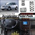 Acelerador Del coche Pedal Pad/Cubierta de Fábrica Del Deporte de Diseño Para MB Mercedes Benz ML Clase M W163 1997 ~ 2005 EN el Pie del Pedal