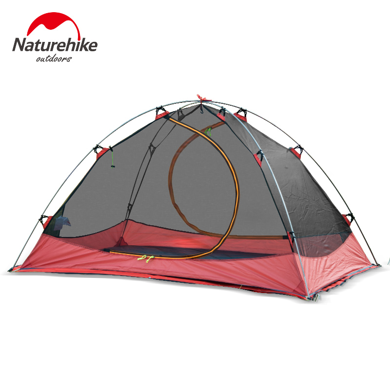 NatureHike Camping Tent Outdoor Inflatable Lightweight Playing 2 Person 20D Silicone Double-layer Tents Free Shipping NH15Z006-P
