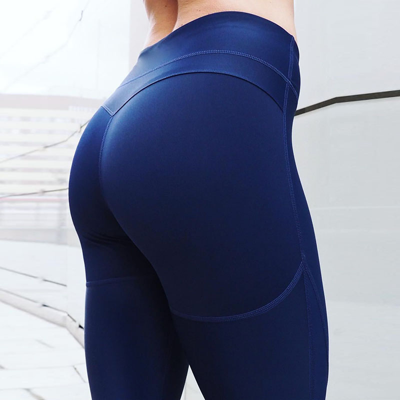 Casual Lift Hips Workout   Leggings   Women High Waist Elastic Push Up   Legging   Fitness Pants Bodybuilding Clothing Leggins Mujer