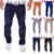 Agujero de la manera Pantalones Tácticos hombres de la Marca de Los Hombres Sueltan Los Pantalones Holgados de Carga Sudor prendas de Vestir Masculinas Overoles Pantalones Casuales Pantalones Para Hombre