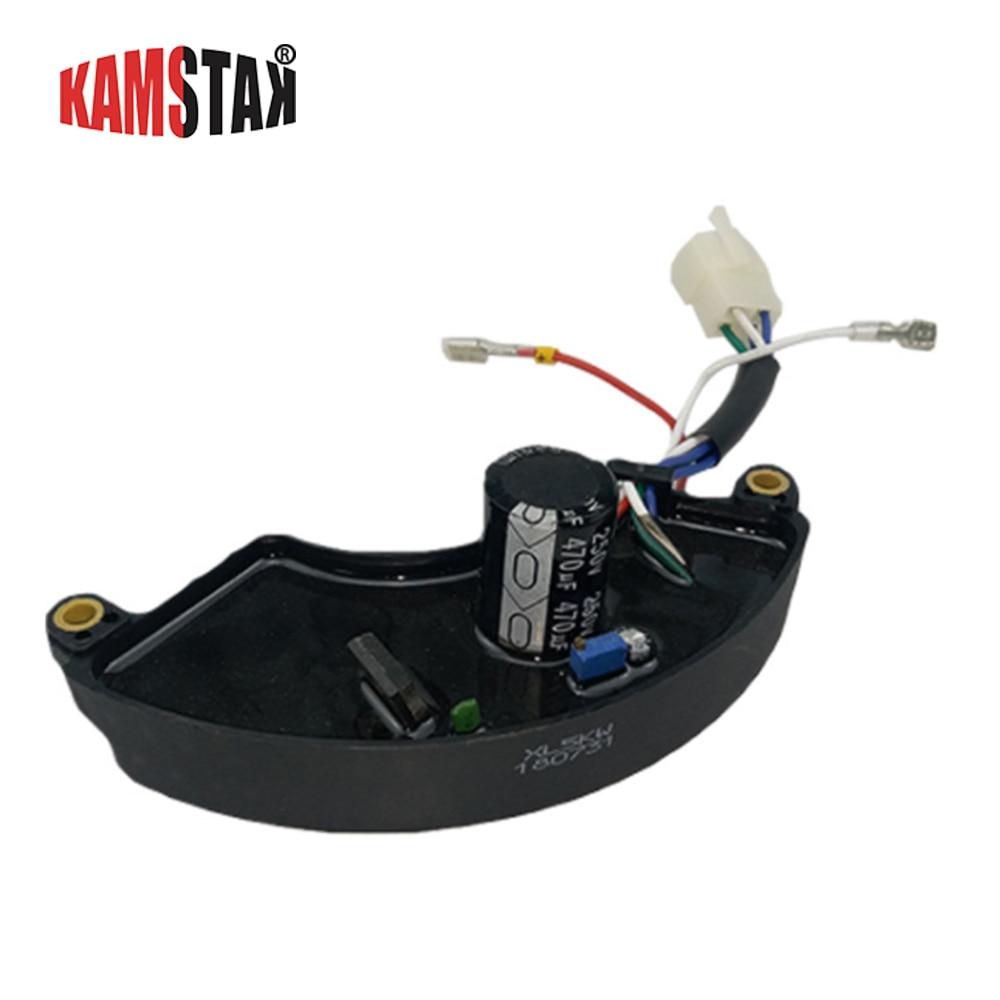 5kw 6 ligne générateur AVR régulateur de tension automatique petit alternateur stabilisateur pour accessoires de générateur d'essence
