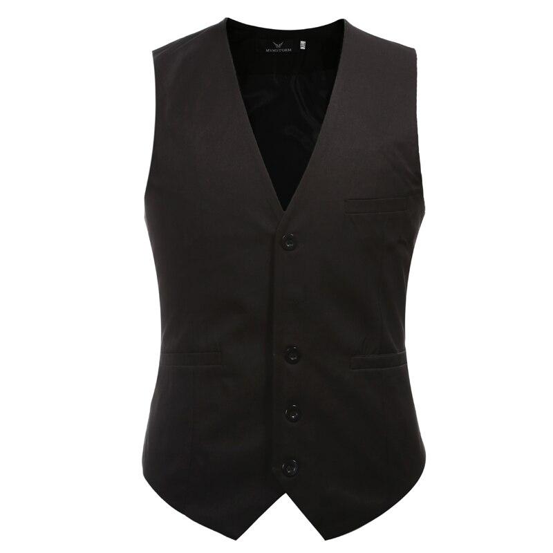 Suit Vest Wedding-Waistcoat Slin Dress Mens And Fashion M-6XL 9-Colors Plus-Size
