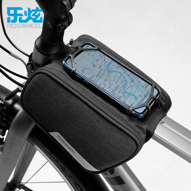 ROSWHEEL 2018 <font><b>ESSENTIAL</b></font> bicycle bag mtb bike top tube bag for <font><b>phone</b></font> 1.5L cycling cycle bags bycicle accessories