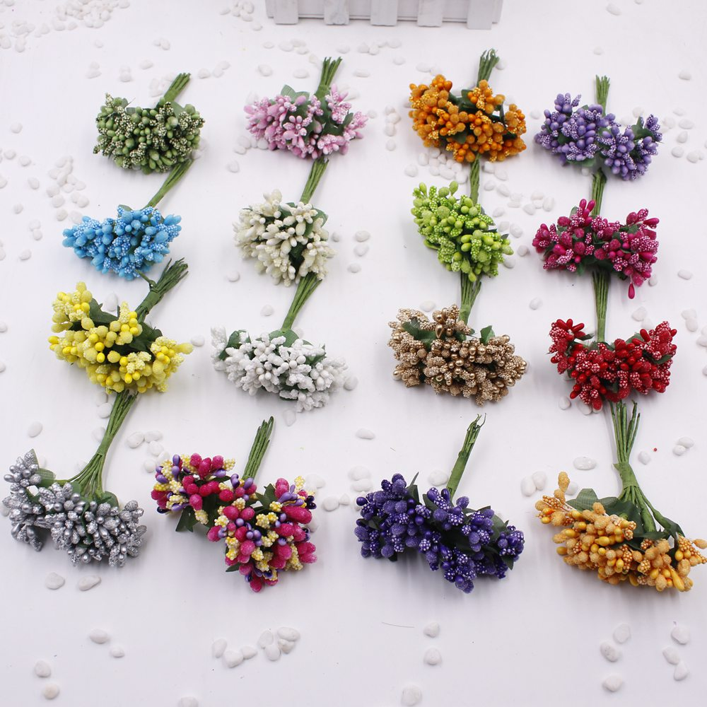 12pcs lot artificial flower stamen wire stem marriage for Artificial flower for decoration