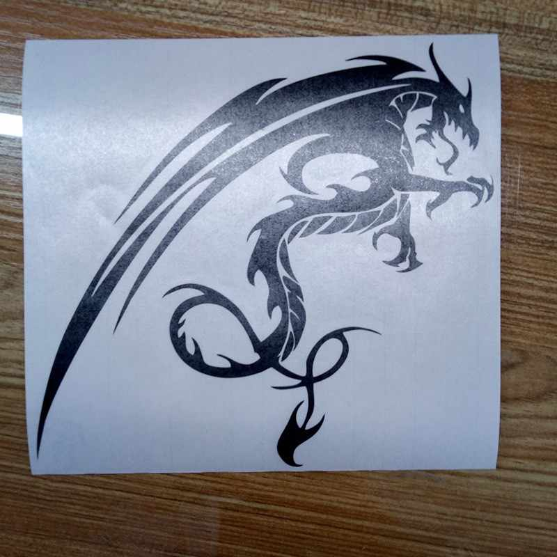 Car- stying Car decals dragon 15x14cm car motorcycle truck decals vinyl  waterproof outdoor stickers Jdm