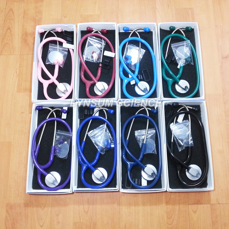 1 PCS Single Head Professional Cardiology Medical Cute Stethoscope With Name Tag