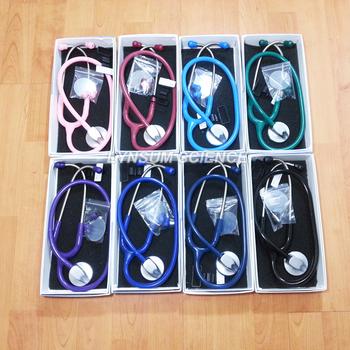 1 szt Pojedynczy klosz profesjonalny kardiologia medyczny śliczny stetoskop z nazwą tanie i dobre opinie LYNSUM Stethoscope