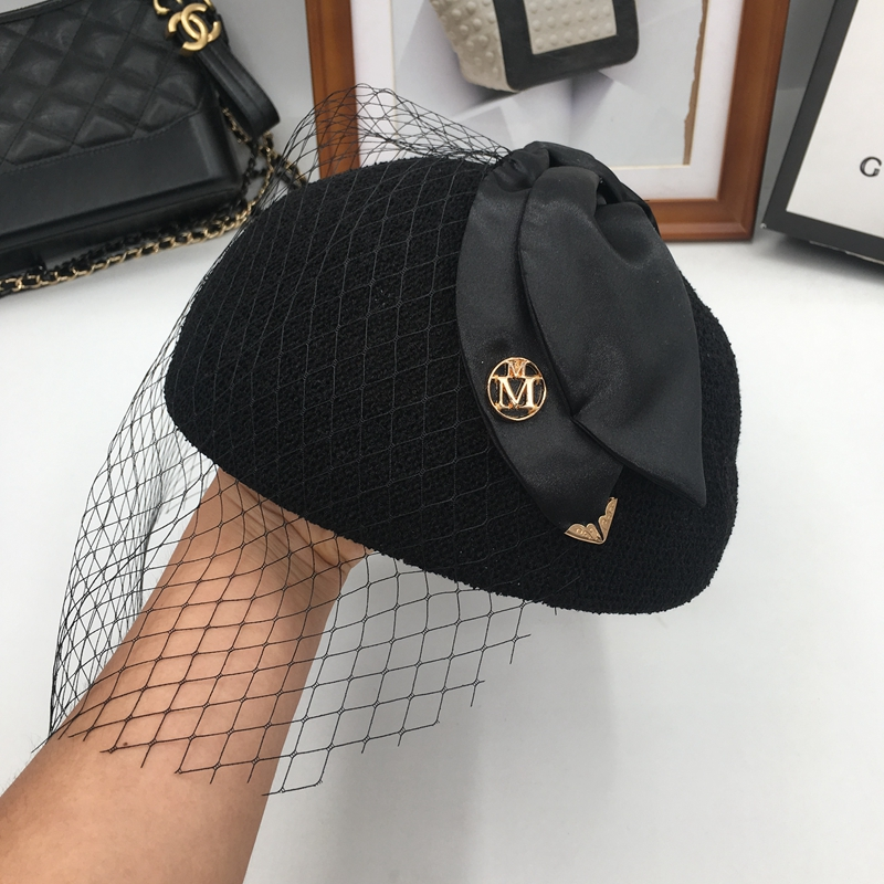 75a858bf241 M cap female thin section British summer day sweet bowknot is han edition  joker lace tide