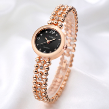 Luxury O.T.SEA Brand Rose Gold Bracelt Watches Women Ladies Bling Crystal Dress Quartz Wristwatches Relojes Mujer OTS082