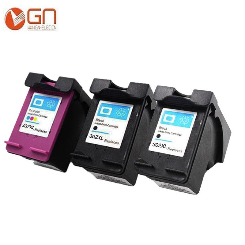 GN For HP 302 302xl Ink Cartridge for hp 302 Deskjet 2130 1110 1111 1112 2131