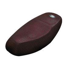 Uxcell M חום עמיד לנשימה מושב אוכף 3D רשת כיסוי שחור אדום Fit עבור אופנוע