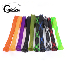 10pcs Fishing Rod Sleeve Cover 170 cm 35 mm Braided Mesh Casting Fishing Rod Cover Pole Sock 10 Colors fishing rod cover pet mesh anti scratch protector pole portable storage protection sleeve universal elastic stretch professional