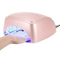Новый 60 Вт УФ светодиодная лампа для ногтей сушилка для всех типов гель 12 светодиодов УФ лампа для ногтей машина отверждения 60 s/120 s таймер с